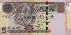 5 Dinars LIBYE  2004 P.69a NEUF