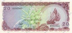 20 Rufiyaa MALDIVES  1987 P.12b NEUF