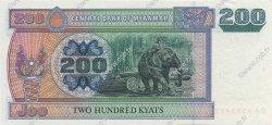 200 Kyats MYANMAR  2004 P.78 pr.NEUF