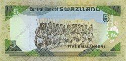 5 Emelangeni SWAZILAND  1995 P.23a NEUF