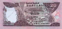 20 Emelangeni SWAZILAND  1998 P.25c NEUF