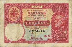 10 Cents SARAWAK  1940 P.25b TB+