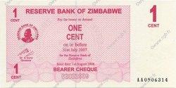 1 Cent ZIMBABWE  2006 P.33 NEUF