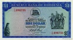 1 Dollar RHODÉSIE  1973 P.30h SUP+