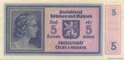5 Korun BOHÊME ET MORAVIE  1940 P.04a SPL