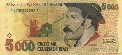 5000 Cruzeiros Reais BRÉSIL  1993 P.241 NEUF