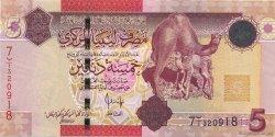 5 Dinars LIBYE  2009 P.72 NEUF