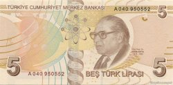 5 Lira TURQUIE  2009 P.222 NEUF