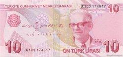 10 Lira TURQUIE  2009 P.223 NEUF