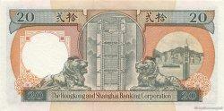 20 Dollars HONG KONG  1991 P.197b NEUF