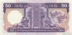 50 Dollars HONG KONG  1989 P.193c pr.SUP