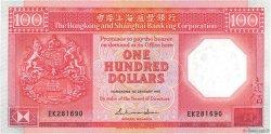 100 Dollars HONG KONG  1987 P.194a SPL