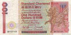 100 Dollars HONG KONG  1988 P.281b TTB