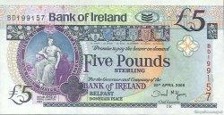 5 Pounds IRLANDE DU NORD  2008 P.079b NEUF