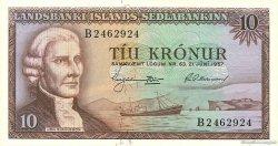 10 Kronur ISLANDE  1957 P.38a NEUF