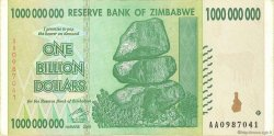 1 Billion Dollars ZIMBABWE  2008 P.83 TTB