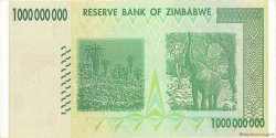 1 Billion Dollars ZIMBABWE  2008 P.83 SPL