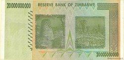 20 Billions Dollars ZIMBABWE  2008 P.86 TTB