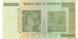 20 Billions Dollars ZIMBABWE  2008 P.86 SUP