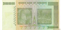 20 Billions Dollars ZIMBABWE  2008 P.86 pr.NEUF
