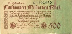 500 Milliarden Mark ALLEMAGNE  1923 P.127a B