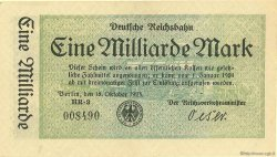 1 Milliarde Mark ALLEMAGNE  1923 PS.1020 SUP