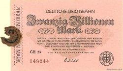 20 Billionen Mark ALLEMAGNE  1923 PS.1031 SPL