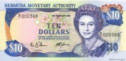 10 Dollars BERMUDES  1989 P.36 NEUF