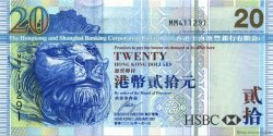 20 Dollars HONG KONG  2007 P.207b pr.NEUF