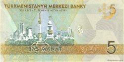 5 Manat TURKMÉNISTAN  2009 P.23a NEUF