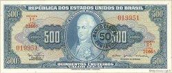 50 Centavos sur 500 Cruzeiros BRÉSIL  1967 P.186a NEUF