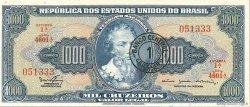 1 Cruzeiro Novo sur 1000 Cruzeiros BRÉSIL  1966 P.187b NEUF