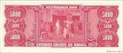 5 Cruzeiros Novos sur 5000 Cruzeiros BRÉSIL  1966 P.188b NEUF