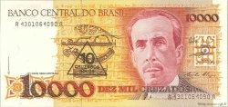 10 Cruzados Novos sur 10000 Cruzados BRÉSIL  1990 P.218b NEUF