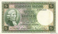 5 Kronur ISLANDE  1948 P.32a TTB