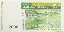 10000 Francs - 2000 Ariary MADAGASCAR  2007 P.93 NEUF