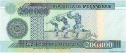 200000 Meticais MOZAMBIQUE  2003 P.141 NEUF