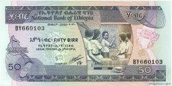 50 Birr ÉTHIOPIE  1991 P.44d NEUF