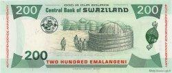 200 Emalangeni SWAZILAND  2008 P.35 NEUF