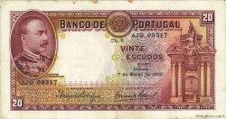 20 Escudos PORTUGAL  1933 P.143 pr.TTB