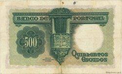 500 Escudos PORTUGAL  1942 P.155 TTB