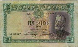 100 Escudos PORTUGAL  1947 P.159 B à TB