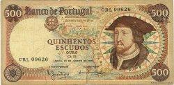 500 Escudos PORTUGAL  1966 P.170a B+