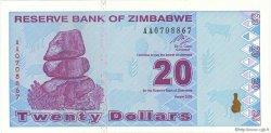 20 Dollars ZIMBABWE  2009 P.95 pr.NEUF