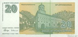 20 Novih Dinara YOUGOSLAVIE  1994 P.150 NEUF