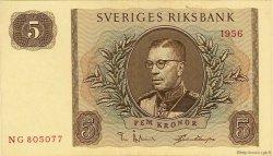 5 Kronor SUÈDE  1956 P.42c SUP