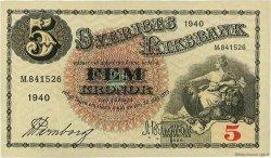 5 Kronor SUÈDE  1940 P.33w pr.NEUF