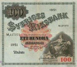 100 Kronor SUÈDE  1951 P.36ag TTB