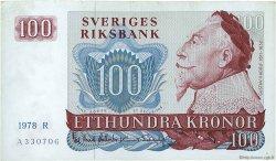 100 Kronor SUÈDE  1978 P.54c TTB