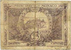 25 Centimes violet MONACO  1920 P.02b TB